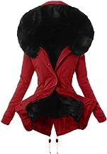 $34 » Ulanda Winter Coats for Women Hooded Warm Thicken Long Parka Jacket Hooded Overcoat Fur Lining Coat