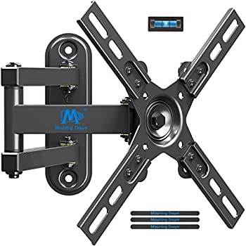 MD Mounting Dream Monitor Bracket TV Wall Mount for most 17-39 Inches LED LCD TVs,TV Mount with Full Motion Articulating Arm up to VESA 200x200mm and 33 LBS with Tilt and Swivel MD2463-L