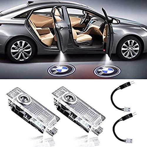 GUOSHUFANG LED Autotürlichtprojektor mit freundlicher Genehmigung von LED Laser Welcome Lights Ghost Shadow Light Logo Kompatibel mit BMW Zubehör X1 / X3 / X4 / X6 / 3/4/5/6/7 / Z/GT-Serie (2 Stück)
