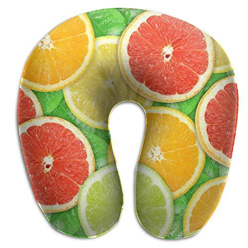 Almohada en Forma de U, Cuello, Colorido, Naranja, Viaje, Almohada Multifuncional, Coche, avión