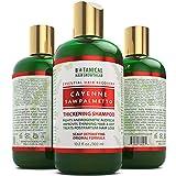 Hair Growth Cayenne & Saw palmetto Scalp Stimulating Botanical Shampoo, Original Formula Fights Hair Loss 10.2 oz