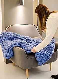 "Big yarn Chunky blanket Big knit baby blanket Merino wool quilt size 23x28"" Photo prop Giant blanket OPENING SALE"
