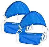 PEARL Sonnenschutz Kopf Strand: Nacken-Kissen mit Sonnenschutz für Strand und Outdoor 2er-Set (Sonnenschutz für Liegestuhl)