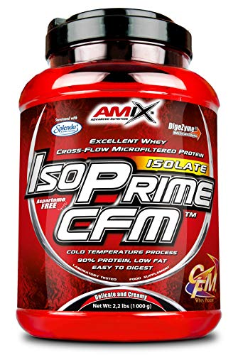 Amix IsoPrime CFM Whey Isolate Protein 90 per Cent Purity, Excellent whey Cross-Flow microfiltered Protein with Essential Amino acids, glutamine and BCAAs (Chocolate)