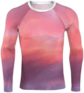 Pretty Vanilla Sky with and red Clouds,Compression Baselayer Tops Long Sleeve T-Shirts S