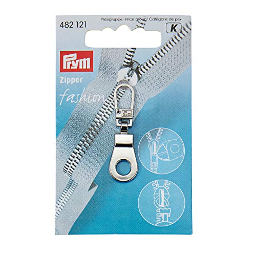 PRYM oogje Fashion ritssluiting trekker, metaal zilver