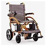 WLD Sencillo Eléctrico para el Sillón de Ruedas Mayor Eléctrica Simple para Los Ancianos Discapacitados Vespa Ancianos Automático Inteligente Antiguo Superligero de Vespa pesado