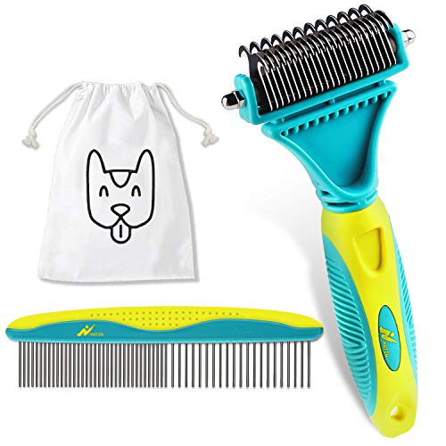 Netzu Pet Grooming Dematting Brush Set