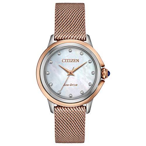 Citizen Ceci - Reloj para mujer (acero inoxidable), color rosa