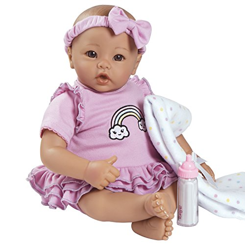 Adora BabyTime Collection in Lavender with Newborn Baby Doll, Soft Blanket & Feeding Bottle