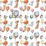 11,99€/m Tiere Luftballon Eichhörnchen Fuchs Igel Hase