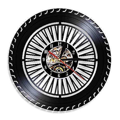 XYVXJ Reloj de Tiempo Decorativo con Rueda súper Genial, Reloj de Pared artístico con Registro de Vinilo Vintage, Relojes para decoración del hogar, Idea niño