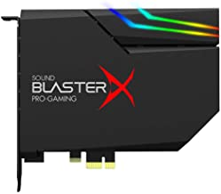 $149 » Creative Sound BlasterX AE-5 Plus SABRE32-class Hi-res 32-bit/384 kHz PCIe Gaming Sound Card and DAC with Dolby Digital and DTS, Xamp Discrete Headphone Bi-amp, Up to 122dB SNR, RGB Lighting System