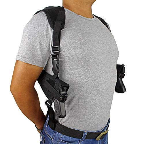 Hombro táctico Militar del Arma de Doble Pistoleras encubrió Lleva Doble Pistola Ejército Bolsa de Caza Accesorios de Airsoft Pistola Holder Well-Made