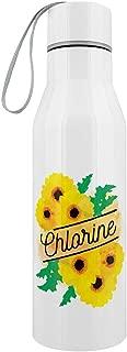 Deadly Detox Chlorine Stainless Steel Water Bottle White 6.5x23.5cm
