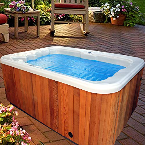 Thermo-Float 16-mil 6ft x 6ft Hot Tub Bubble Cover Floating Spa Blanket - trimmable Heavy-Duty Insulating Solar Heating