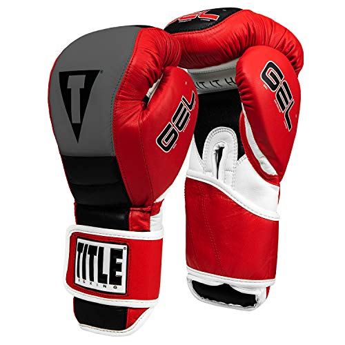 Title Gel Rush Bag Gloves, Red/Gray/Black, 16 oz