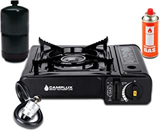 Camplux Dual Fuel Camping Stove, Portable Butane Stove 7200 BTU, Single Burner Propane Stove with Carry Case