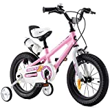 RoyalBaby Bicicletas Infantiles niña niño Freestyle BMX Ruedas auxiliares Bicicleta para niños 14 Pulgadas Pink