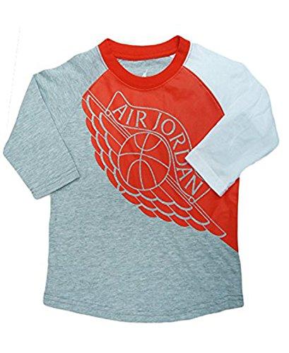 Jordan Nike Air Retro Ones Toddler Tee Jersey T-Shirt (DK Grey HTHR 7, 7)