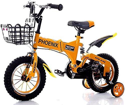 Kinderfürr r 2-12 Jahre alt Baby Kinder fürrad M er und Frauen Stoßdämpfer Baby Car A+ (Farbe   Orange, Größe   16 inches)