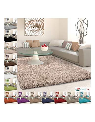 Carpet 1001 Tapis Shaggy, Poils Longs, Poils Longs, Couleur Unie, différentes Tailles et Couleurs - Beige, 240x340 cm