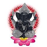 Resina Ganesh hidu Elefante Estatua Elefante Buda Figura Dios del éxito Ornamento Decorativo para Coche de Oficina en casa,d