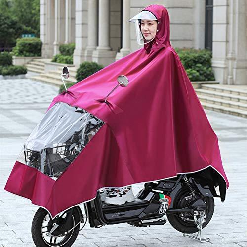 Transparante Dubbele Hoedrand Grote Winddicht Regendicht Motorfiets Scooter Regen Hoodie Jas Cape Poncho Regenkleding Volledige Bescherming Met Reflecterende Strips