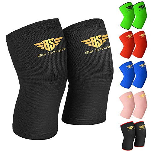Elastic Knee Sleeve Support Brace for Joint Pain Injury Sprain Knee Cap Compress (Single, 2XL)