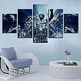 5 Piece Canvas Obras De Arte Edificios De Roma Fotos Decoración De Habitaciones Obras De Arte Carteles Sin Marco
