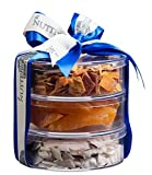 The Nuttery Premium Dried Fruit Gourmet Holiday Gift Tower- Pears ~ Tropical Mix ~ Coconut ~Holiday Gift Set