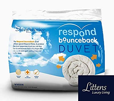 Sleepworks Hotel Quality Respond Bounce Back Microfibre Duvet Quilt, Embossed Soft Touch Ideal For Summer & Winter Season By Littens from Sleepworks