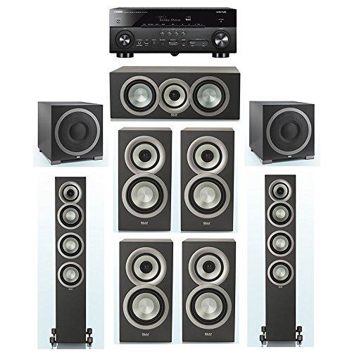 Fantastic Prices! ELAC Uni-Fi Slim Black 7.2 System with 2 ELAC FS-U5 Floorstanding Speakers, 1 ELAC...