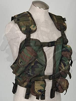 Ultimate Arms Gear Original Army Surplus USGI US Military Issued Woodland Camo Camouflage Enhanced Load Bearing Tactical Vest