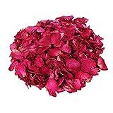 Gobesty Pétalos de Rosa Secos, 100g de pétalos de Rosa Secos Naturales, biodegradables