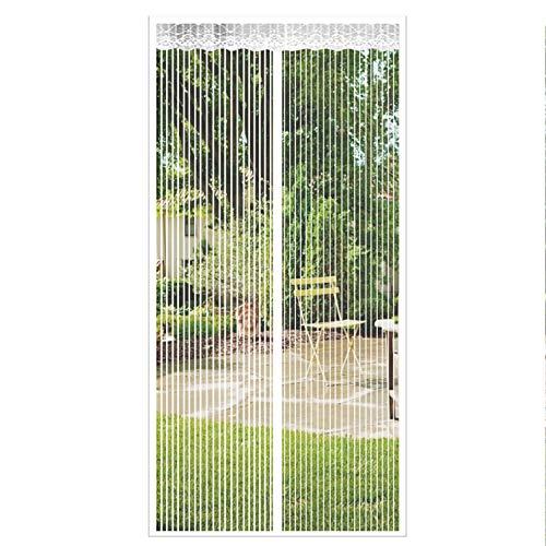 GOUER Magnetic Screen Door, 130x255cm Super Quiet Screen Door Nets Lets Fresh Air in, for Kitchen/Bedroom/Air Conditioner Room, White A