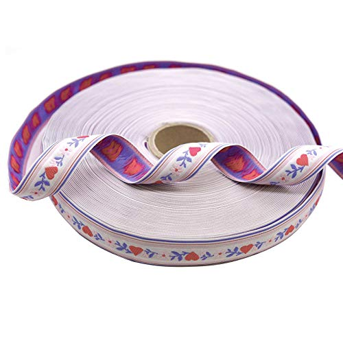 1m Trachtenborte, Webband, Webborte 23mm Farbwahl/Längenwahl, Farbe:rosa