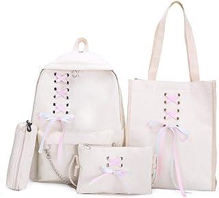 Backpack Set Fashion School Bag Handbag Shoulder Bag Pen Bag 4Pcs