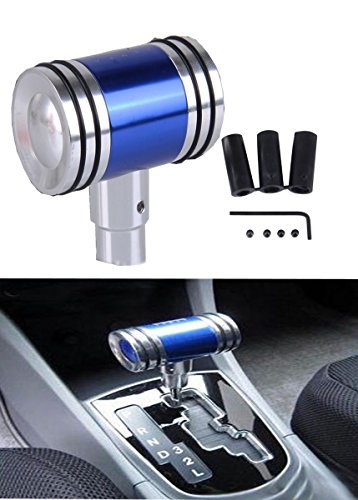 B/&M 80658 Brushed Aluminum T-Handle Shifter Grip with Button and SAE Thread Inserts
