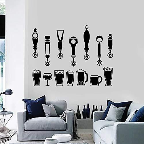 Tianpengyuanshuai keukenstickers, wandtattoo, voor dranken, ramen, decoratie, koelkast, vinyl, zelfklevend, 42 x 55 cm