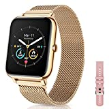 Canmixs Smartwatch Orologio Fitness Donna Uomo Acciaio Bluetooth Smart Watch Cardiofrequenzimetro Da Polso Contapassi Conta Calorie Smartwatch Impermeabile Sportivo Activity Tracker Per Android ios