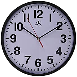 Infinity Instruments Pure Round Clock, 13.5