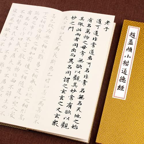LOOPIG Zhao Mengfu Tao Te Ching Copybook Pincel Regular Script Introdução Livro de Cópia Iniciante 1 peça