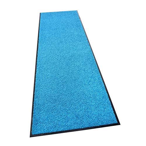 acerto 30239 Alfombrilla antisuciedad Premium ZANZIBAR azul 60x120cm * Extremadamente resistente * Exterior e interior * Resistente a las heladas * Libre de PVC - Limpia puerta de entrada Alfo