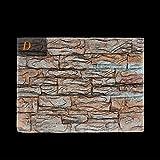 Pegatinas de espuma 3D para fondo de acuario, Indexp Antiguo patrón de piedra de reptil fósiles para decoración de tanque de peces (estilo D, 60 x 45 x 4 cm)