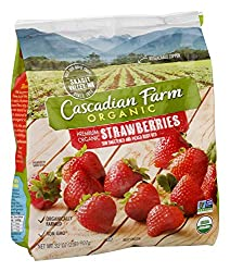 Cascadian Farm Organic Strawberries, Premium Frozen Fruit, Non-GMO, 32 oz