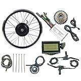 LiRongPing Accesorios de la Bicicleta eléctrica Kit de 48V 250W traseras giran Motor de la Rueda E-Bici con LCD3 Display Kit de conversión de Ebike,20inch LCD Sets