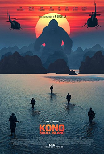 KONG SKULL ISLAND MOVIE POSTER 2 Sided ORIGINAL FINAL 27x40 TOM HIDDLESTON