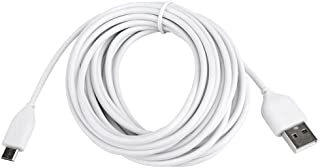 13ft Micro USB Cable for Wyzecam, YI Dome Camera, Arlo Q Camera, Nest Cam, Dropcam, Samsung Andoird Charging Cable