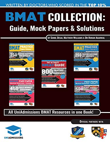 The Ultimate BMAT Collection: 5 Books In One, Over 2500 Practice Questions & Solutions, Includes 8 Mock Papers, Detailed Essay Plans, BioMedical Admissions Test, UniAdmissions